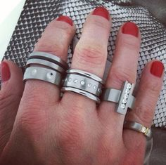 Stainless never looked so good- rings by Humphrey available at Quadrum- photo credits: www.instagram.com/jewelry_maven