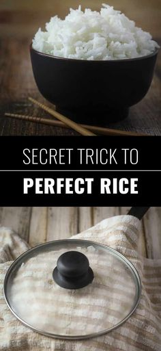 Coolest Cooking Hacks, Tips and Tricks for Easy Meal Prep, Recipe Shortcuts and Quick Ideas for Food |  Secret Trick To Perfect Rice  | http://cooking-tips-diy-kitchen-hacks