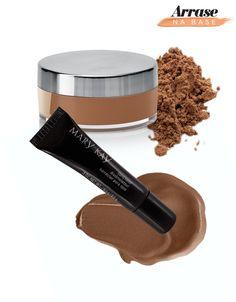 Combo Base + Corretivo para pele negra: Tonalidades Bronze