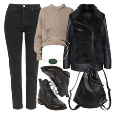 """""""Untitled #4102"""" by style-by-rachel ❤ liked on Polyvore featuring Topshop, rag & bone and Monki"""