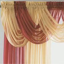 cortina cenefas entubada cruzada ms