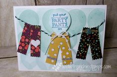 Washi Label Punch Perfect with Party Pants