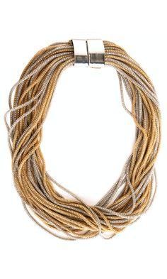 Nanni Silver and Gold Tone necklace -  #accessories