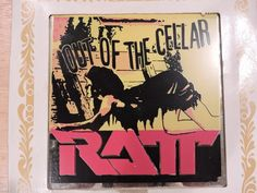 """Vintage Carnival Mirror RATT """"Out Of The Cellar""""  Size 6x6 Great Shape!"""