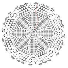 Twitter(@atelier_mati)で予告していたお花のドイリーの編み図、書けました^^レース糸ではなく、普通のコットン糸をかぎ針3号で編むドイリーです。サクサク編めて、途中ほどいたりしながら、1日で編めたので、