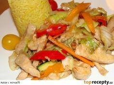 Kuřecí směs se zeleninou (čína) z woku Tacos, Mexican, Meat, Chicken, Ethnic Recipes, Mexicans, Cubs