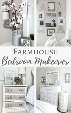 One Room Challenge (Week Farmhouse Bedroom Reveal! Simply Beautiful By Angela: Farmhouse Master Bedroom Makeover Modern Farmhouse Interiors, Country Farmhouse Decor, Farmhouse Style, Southern Farmhouse, Farmhouse Plans, Country Style, Antique Farmhouse, French Farmhouse, Country Primitive