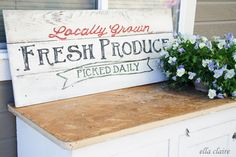 Fresh Produce Sign for My Garden~ Tutorial and Free Printable Template