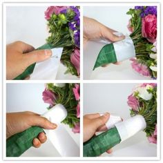 How to make a wedding bouquet - great step by step instructions
