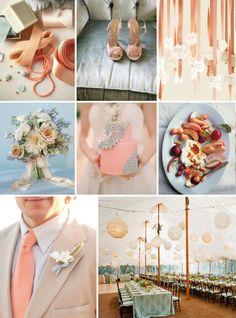 Peach Wedding Details #WeddingPlanning #NewportWedding #BostonWedding