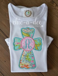 Personalized Paisley Initial Cross Applique