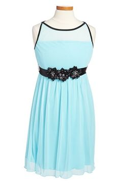 Roxette Sleeveless Illusion Bodice Dress (Big Girls) available at #Nordstrom