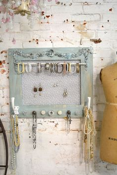Wire tray reused for jewelry storage Craft Ideas Pinterest
