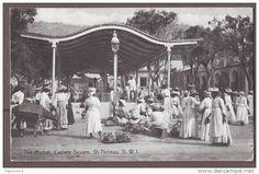 vintage st thomas usvi | Danish West Indies VIRGIN ISLANDS St.Thomas The Market Casimir Square vi52