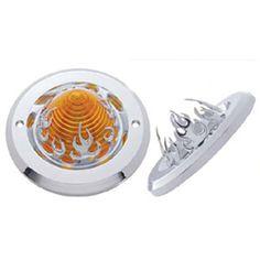 2 Flame Chrome Plastic Beehive Light Bezel