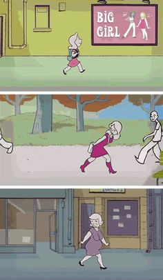 A Lifetime Of Walking While Female In Just 4 Minutes Sad Comics, Funny Boy, Sad Art, Funny Video Memes, Sad Stories, Me Too Meme, Faith In Humanity, Marvel Movies, Comic Strips