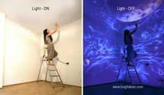 Pour voir les œuvres de cette artiste il va falloir éteindre la lumière Superbe