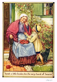 """Cicely Mary Barker Print - """"""""SPEAK A LITTLE LOUDER, SIR"""""""" - Offset Lithograph - c1930"""