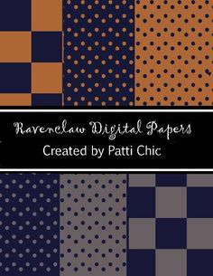 HARRY POTTER Ravenclaw House Scrapbooking Paper Set by pattichic, $2.95