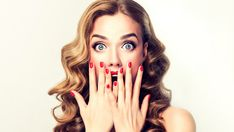 Picture of Facial expression of young woman displaying shock, astonishment and amazement. Beautiful girl with curly hair, perfect mack up and manicure. stock photo, images and stock photography. Beauty Tutorials, Beauty Hacks, Makeup Tutorials, Beauty Tips, Mascara, Le Black Friday, Que Horror, Mack Up, Beauty Makeup