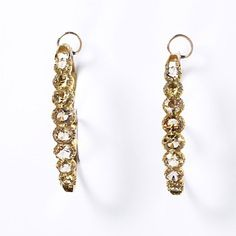 Earrings, France, c. 1820