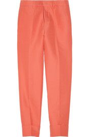 Marni Cropped cotton and silk-blend organdy pants