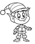 holiday elf boy christmas digi stamp