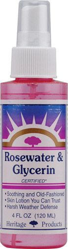 Heritage Products Rose Petals Rosewater and Glycerin -- 4 fl oz - Vitacost
