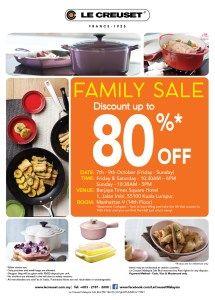 7-9 Oct 2016: Le Creuset Family Sale