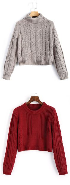 Up to 68% OFF! Cable Knit Panel Pullover Cropped Sweater. #Zaful #sweater Zaful,zaful outfits,fashion,style,tops,outfits,sweater,cardigan,blouses,sweatshirts,hoodies,turtleneck,cashmere,cashmere sweater,cute sweater,floral sweater,long cardigan,pearl sweater,knitwear,fall,winter,winter outfits,winter fashion,fall fashion,fall outfits,Christmas,ugly,ugly Christmas,Thanksgiving,gift,Christmas hoodies,Black Friday,Cyber Monday @zaful Extra 10% OFF Code:ZF2017
