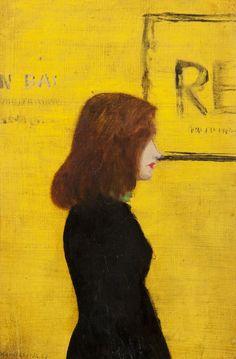 "amare-habeo: "" Kamil Lhoták (Czech, Manka in a black sweater, 1913 Oil on canvas, 34 x 23 cm "" Contemporary History, Artful Dodger, Digital Museum, Collaborative Art, Classical Music, Black Sweaters, Female Art, Oil On Canvas, Art Drawings"