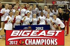 2012 BIG EAST CHAMPIONS! 10th-ranked University of Louisville Volleyball team won its sixth Big East Tournament Title by sweeping all three matches this weekend. With the win, Louisville (28-3) earns an automatic bid to the NCAA Tournament!