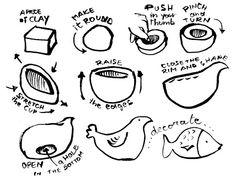 """La tewcnica più semplice per cominciare a modellare l'argilla è quella a """"pizzico"""": si lavora una palla di creta usando solo le dita, prima il pollice e poi tutte le altre dita. C…"""
