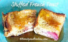 SO YUMMY!! Stuffed french toast casserole - yes,k filled with Strawberries and cream. It doesn't get better than that!