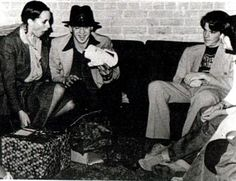 """Lenora """"Lenny"""" (Bailey) Vaughan and Stevie Ray Vaughan at their wedding shower; Chris Layton."""