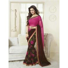Saiveera New Arrival Ayesha Designer Half N Half Flower Printed Pink and Brown Saree/Sari Saiveera Fashion Is a Best Manufacturer, Exporter,Wholesaler, As well as Best and dealer,Retailar Of Designer,Embroidery Wedding Sari,Kids Lahenga Choli,Salwar Suit,Dress Material,etc.in surat Textile Market. Also Mainly Focus On Style,Choice,Fabric. So Saiveera Fashion Also Made Designer, Printed, Cotton,Fancy,Kurtis,Saree,Embroidery ,Wedding, Partywear,For More Query Please Call Or Whatsapp…
