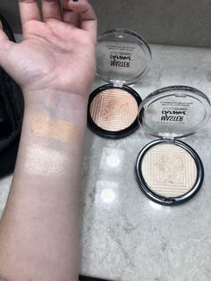 Maybelline Master Chrome Highlighter in Molten Rose Gold and NikkieTutorials : MakeupAddiction Highlighter Makeup, Drugstore Makeup, Skin Makeup, Maybelline, Highlights, Palette, Makeup Swatches, Contouring And Highlighting, Strobing