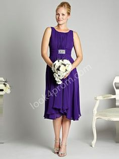 A-line Scoop Bridesmaid Dresses $89.99
