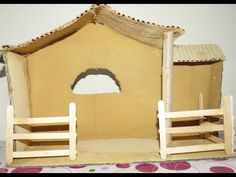 Christmas Crib Ideas, Christmas Baskets, Christmas Candles, Christmas Crafts, Christmas Decorations, Christmas 2017, Nativity Stable, Christmas Nativity Set, Nativity Crafts