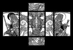 Slavic mythology by Alexey Bakhtiozin, via Behance