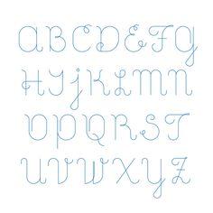 Lara Script font by Sebastian Gagin, via Behance; lower case and symbols on website