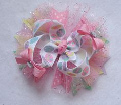 Hey, I found this really awesome Etsy listing at https://www.etsy.com/listing/180211145/springeaster-hair-bow-easter-hair-bow