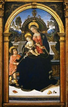 LARGE SIZE PAINTINGS: PINTURICCHIO Virgin and Child with St John ca. 1495-96