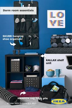 Organize your college supplies with portable storage like this reimagined IKEA SKUBB hanging shoe organizer!