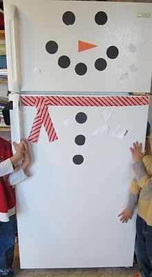 Adorable snowman fridge, and a great site for other kids crafts and yummy recipes!!