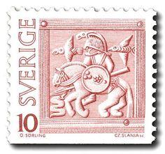 Swedish viking stamp
