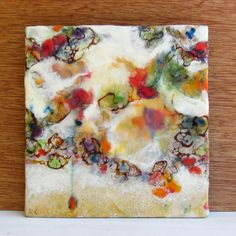 Original Encaustic Painting - Abstract Flower Painting - Floral Garden Mist - Beeswax Art - KlynnsArt