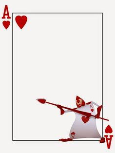Journal Card - Playing Card - Ace of Hearts - Alice in Wonderland. Adjust width to 8 and height to and the image will fit nicely onto paper. Alice In Wonderland Printables, Alice In Wonderland Tea Party, Mad Hatter Party, Mad Hatter Tea, Alice Tea Party, Ace Of Hearts, Disney Scrapbook, Disney Crafts, Printable Cards