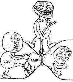 Ohm's law :)