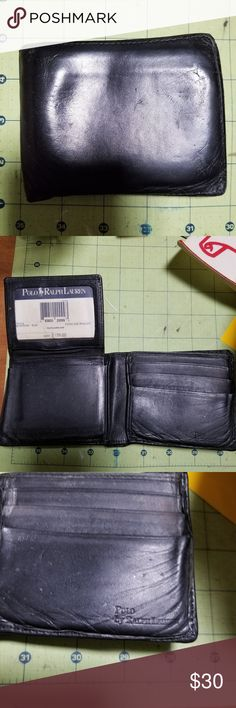 Used polo wallet Used But still has some life left Polo by Ralph Lauren Accessories Money Clips